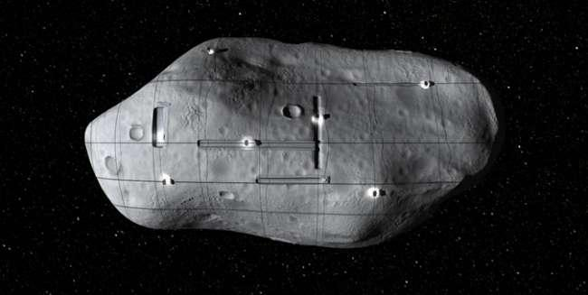 Artist's concept of asteroid mining