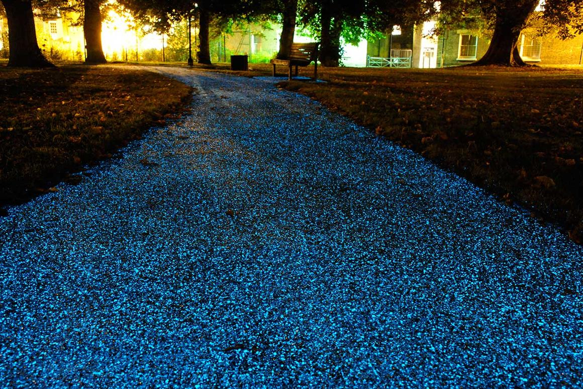 UK company Pro-Teq's glow-in-the-dark spray coating could prove a cheaper alternative to conventional street lighting (Photo: Pro-Teq)