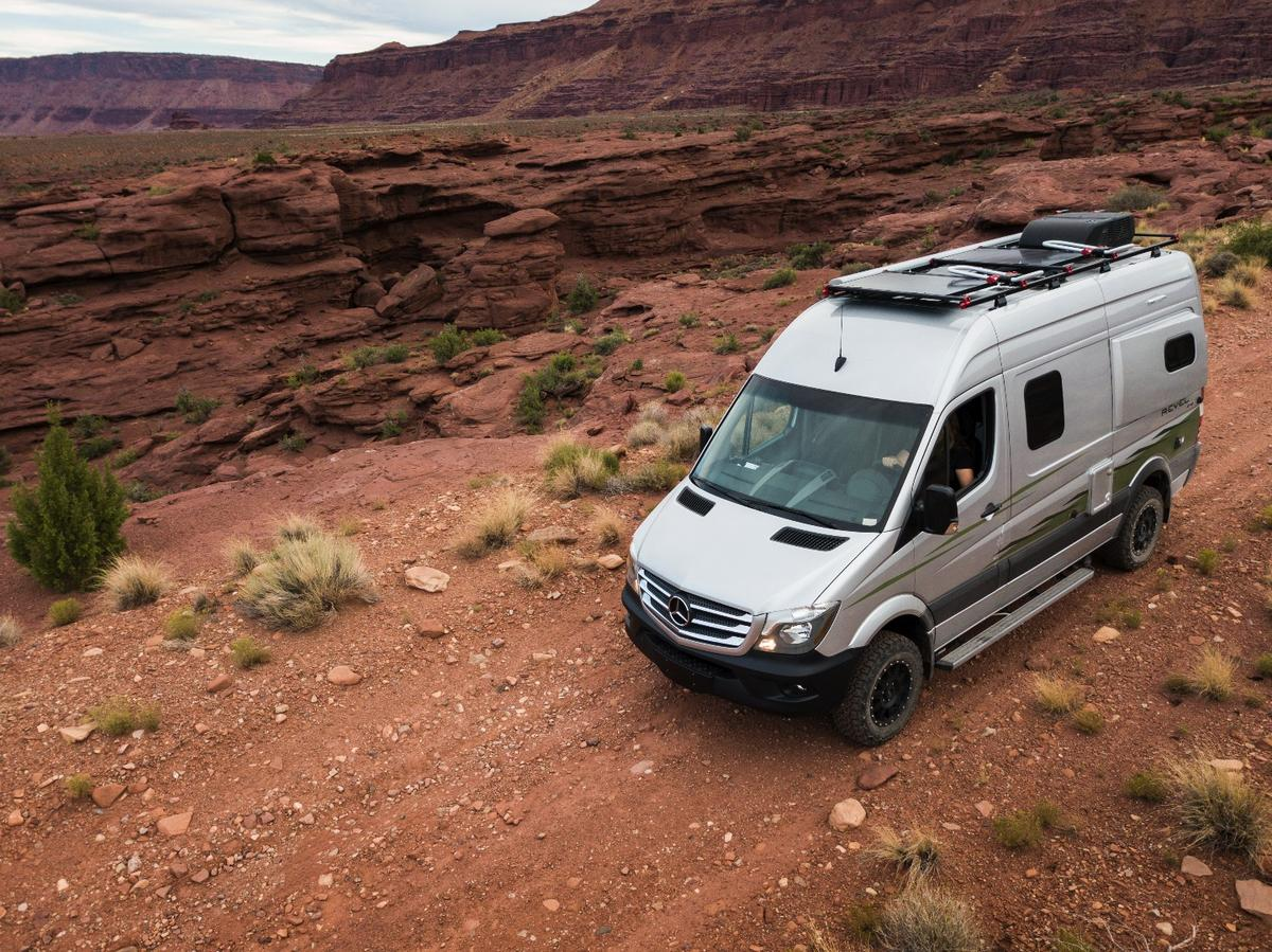 Winnebago imagines the Revel finding use with mountain bikers, rock climbers and other modern-day adventurers that need a vehicle and base camp built for dirt and rock