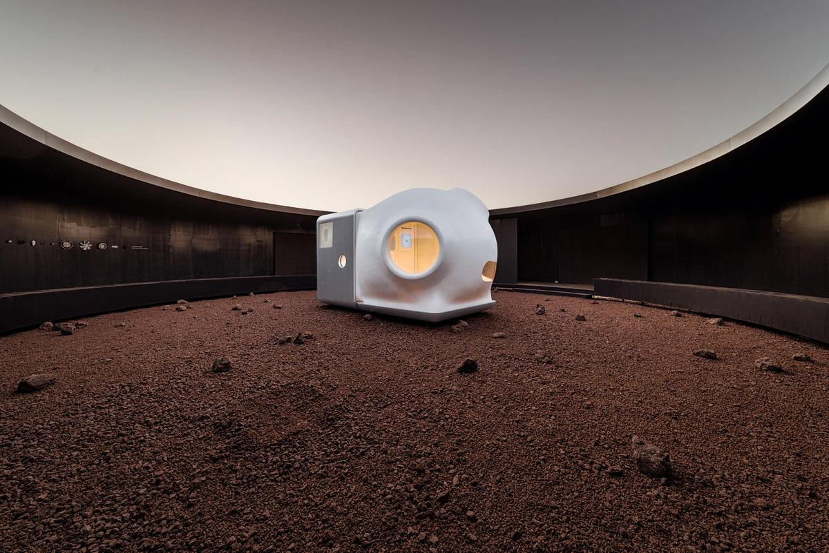 The Mars Case shelter measures 2.4 x 2.4 x 2 m (7.87 x 7.87 x 6.5 ft)