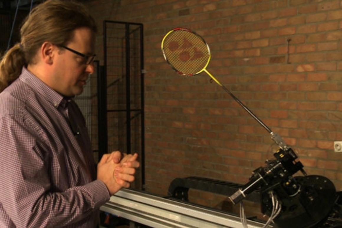 Researchers at FMTC reduced the power consumption of their badminton robot by 50 percent, using the ESTOMAD software