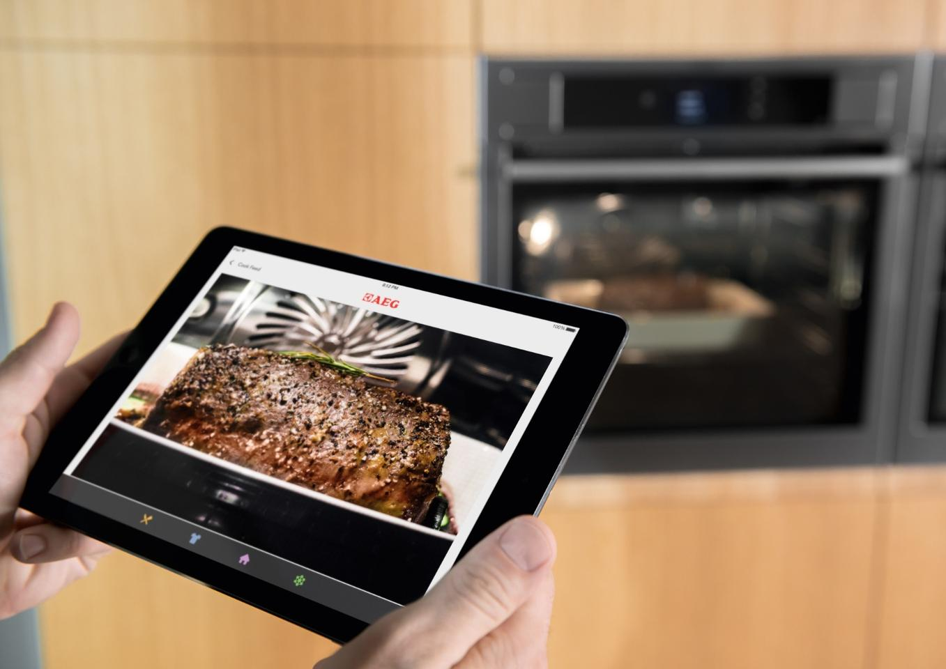 AEG is making use of camera technology to allow home chef's a live feed view of what's cooking in its ProCombi Plus Smart oven