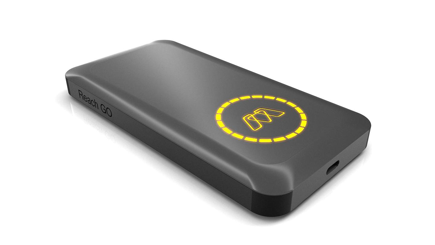 MOS Reach Go power bank packs 15,000 mAh, good for almost three full charges of a 2015 Macbook