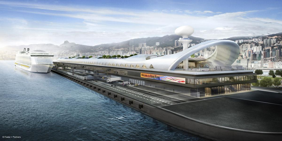 Berthing area for the terminal (Image: Foster + Partners)