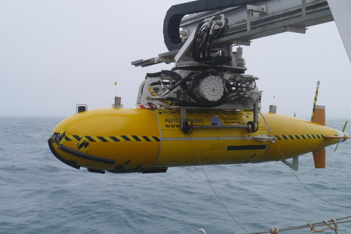 The Autosub6000 returns from the deep