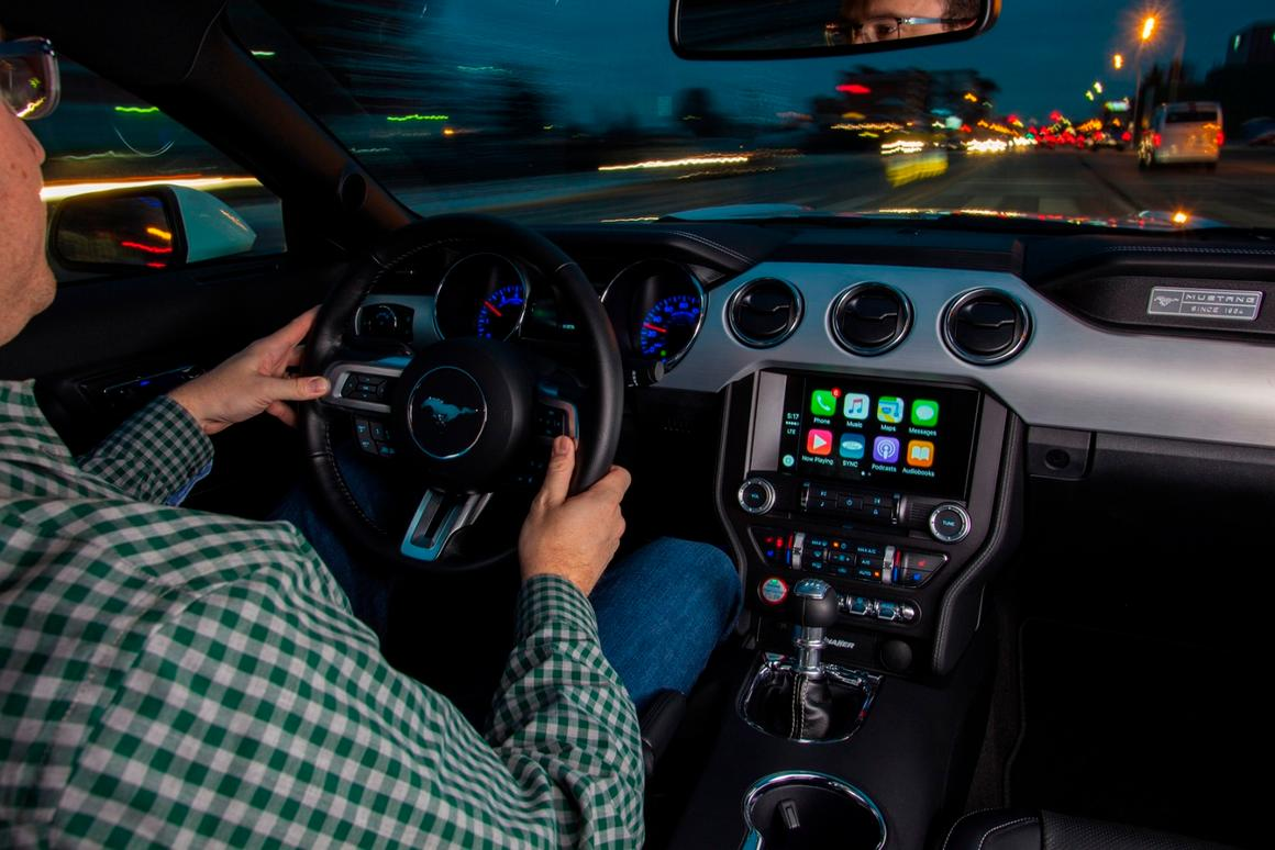 Apple CarPlay will allow Ford drivers with iPhone 5 models or later to plug in their smartphone via USB and for its interface to be displayed on the vehicle's touchscreen