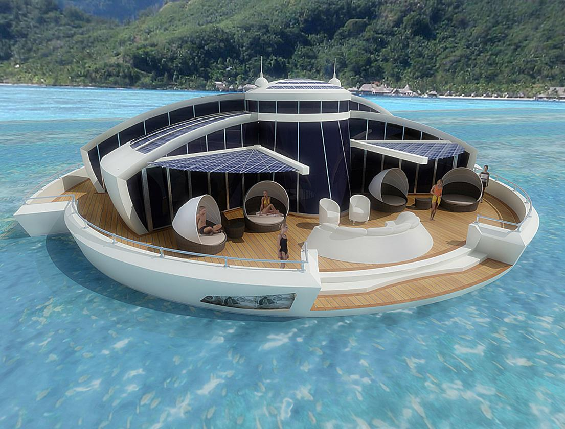 Italian industrial designer Michele Puzzolante has come up with a conceptual floating luxury hotel suite he claims could be entirely self-powering thanks to the dye-sensitized solar cells which would be integrated into the vessel's walls