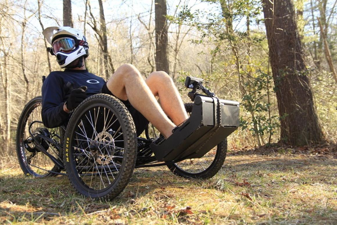 The Horizon can be pedaled with the hands or feet or driven solely by electric motor power