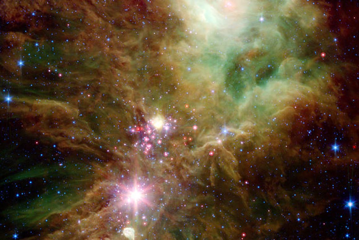 Researchers used sound wave readings of NGC 2264 to determine the age of stars (Photo: SIRTF/NASA/ESA)