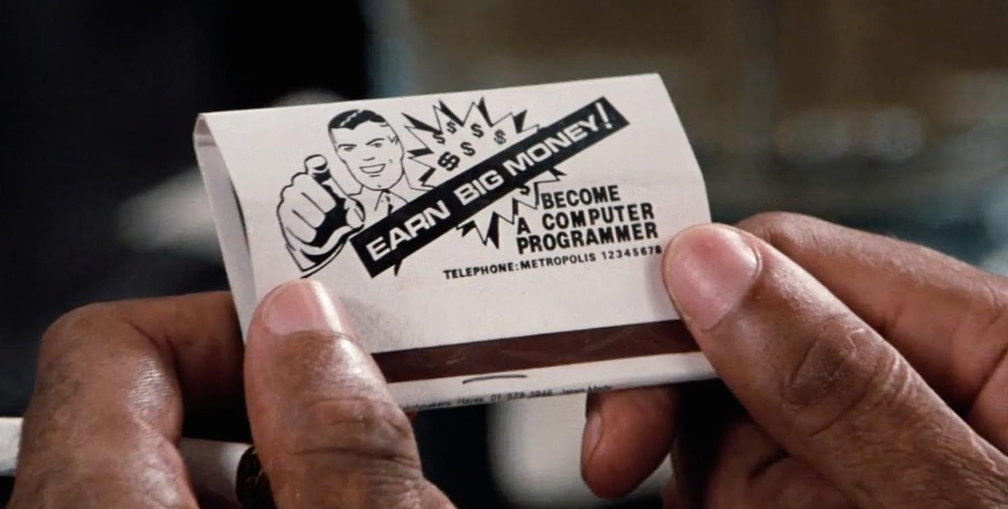 The matchbook that set Richard Pryor off on a path to become the world's greatest computer hacker in Superman III