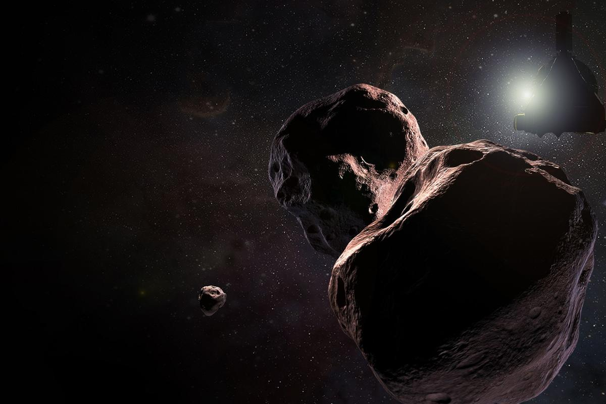 Artist's impression of New Horizons approaching Ultima Thule