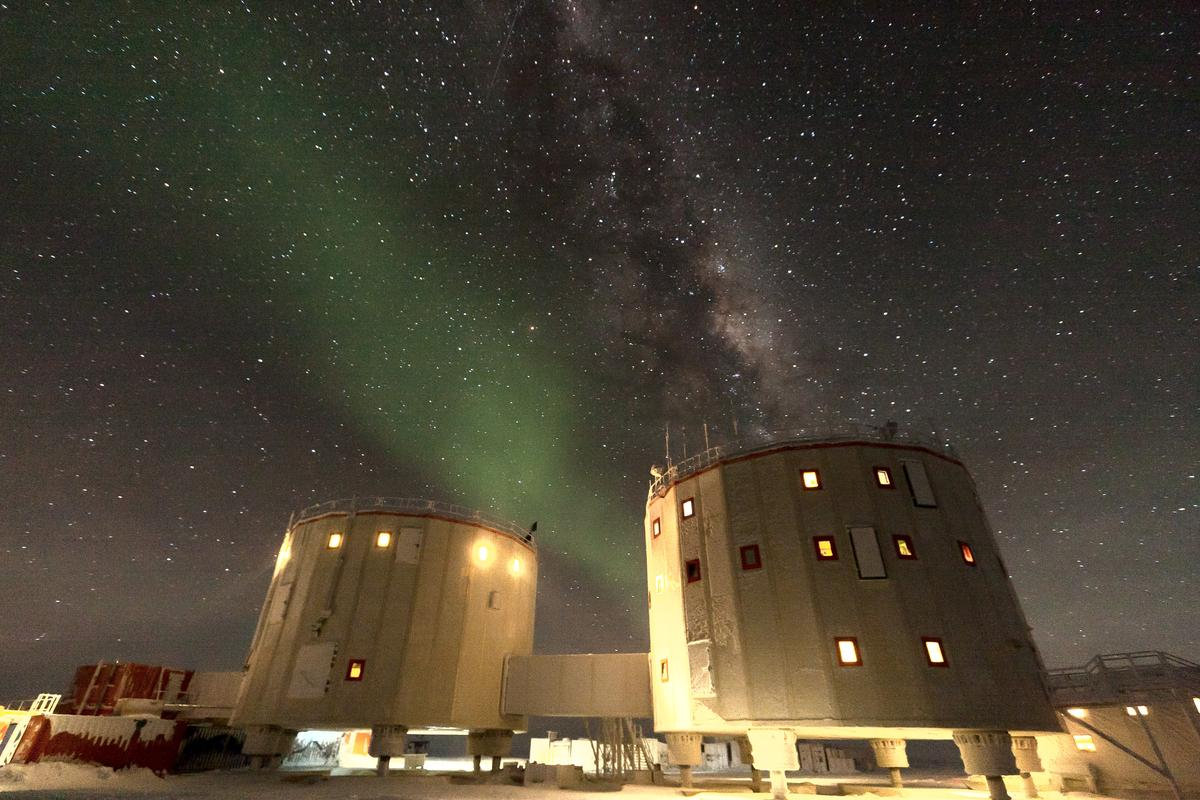 The Concordia Research Station's inhospitable setting makes it useful for studying the effects of space travel