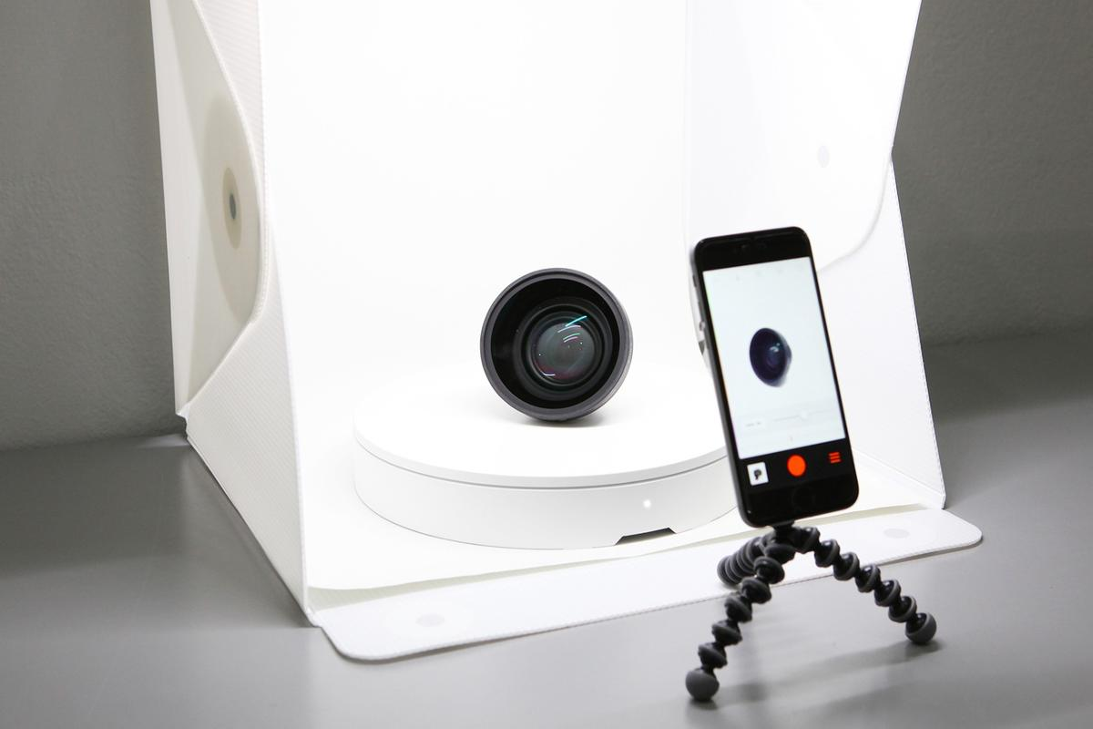 Foldio360 is a smart photography turntable designed to make shooting 360 degree product images easier
