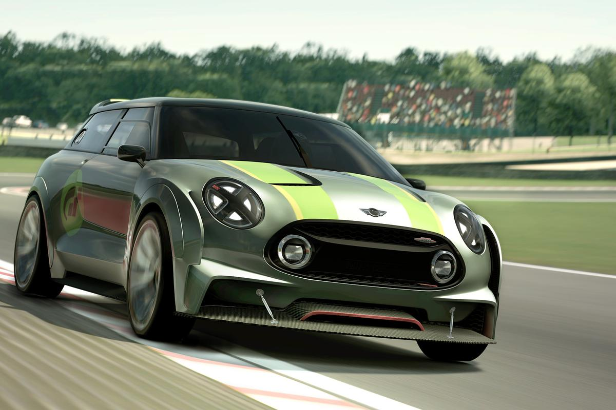 Mini has taken to the virtual racetrack with its Clubman Vision Gran Turismo
