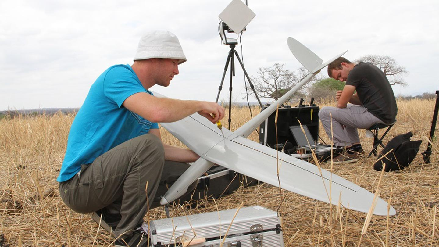 Bathawk preparing an anti-poaching drone for field-testing