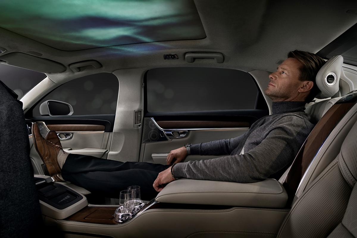 Volvo imagines the Ambience package accompanying the rear VIP seat of theS90Excellence