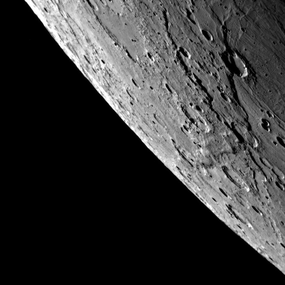 Surface of Mercury as captured in 2008 by NASA's MESSENGER spacecraft