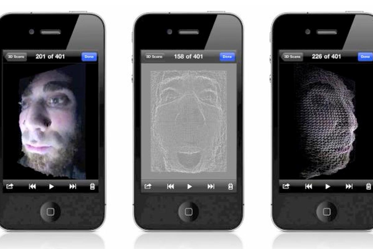 Trimensional is a new app that allows an iPhone 4 to work as a 3D scanner