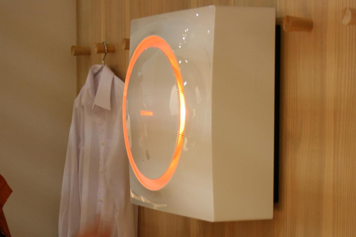 The wall-mountable Electrolux SHINE concept washing machine