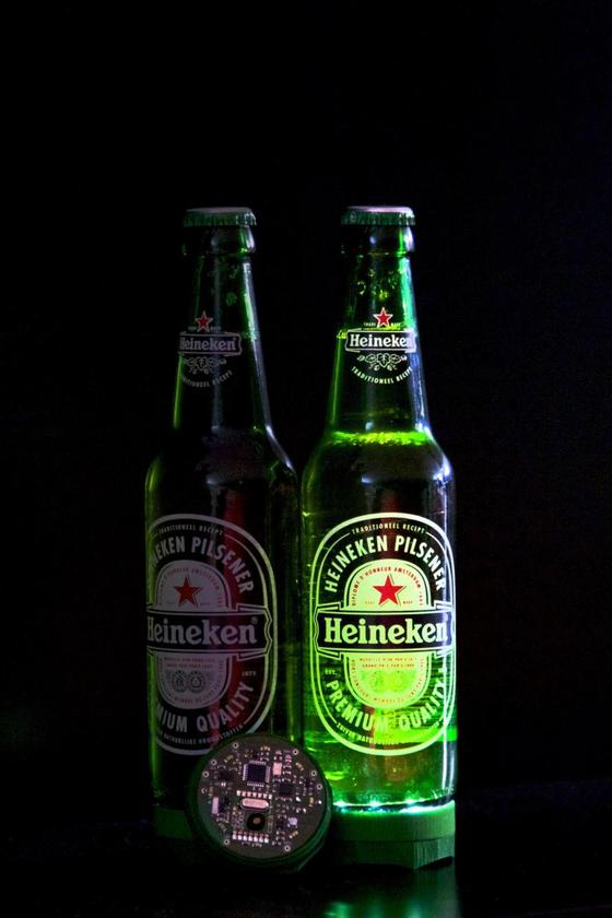 Heineken developed the Ignite as part of an experiment to enhance the social interaction of beer drinking using modern technology