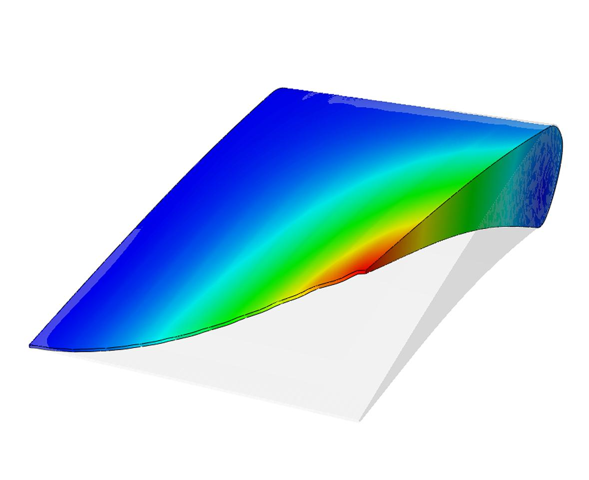 Computer simulation of a wing flex module