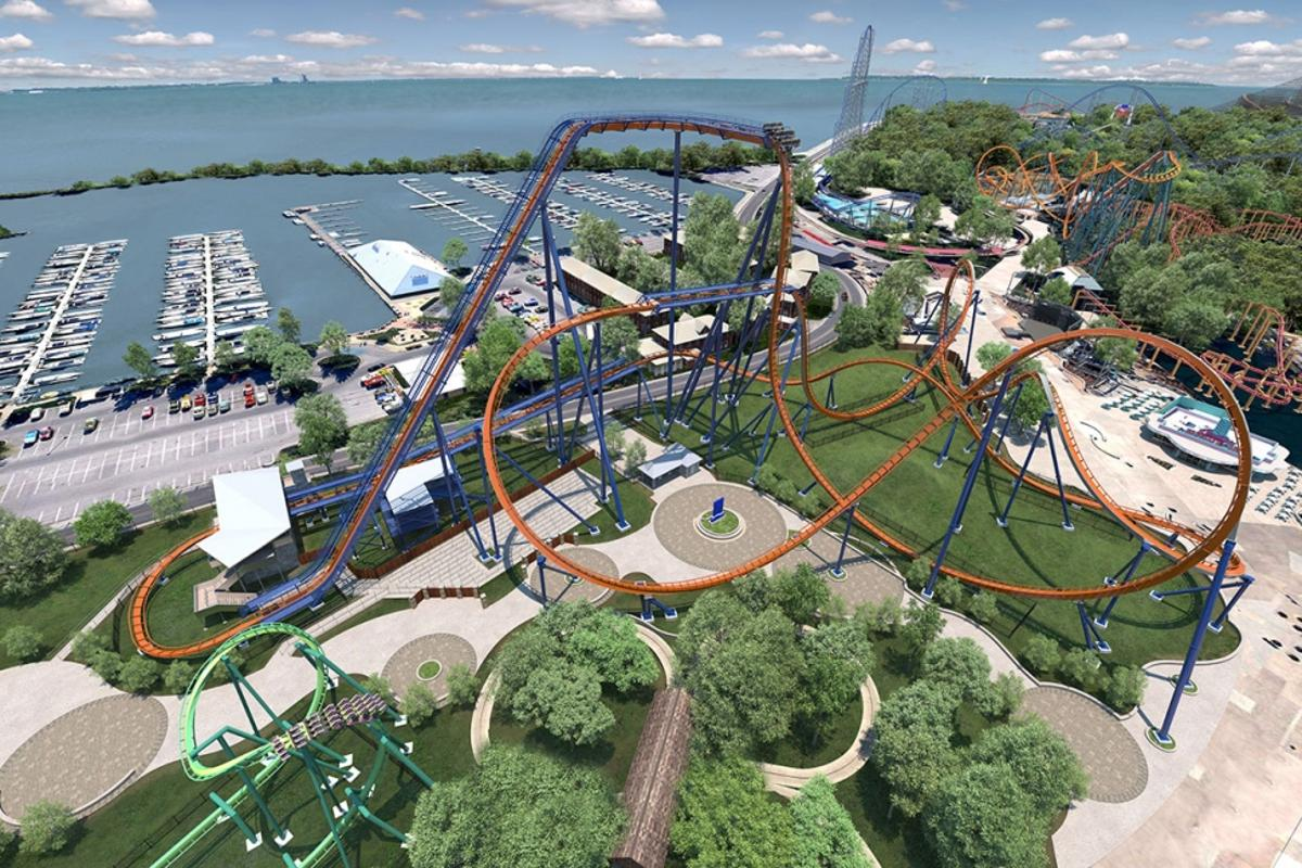 Valravn will comprise three 24-passenger floorless trains, with riders sitting eight across and held in place by over-the-shoulder restraints