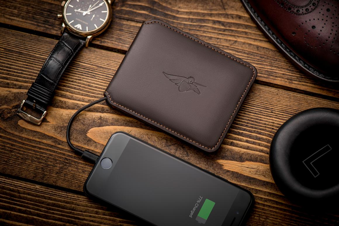 The Volterman smart wallet has GPS tracking, a built in powerbank, and acts as a Wi-Fi hotspot