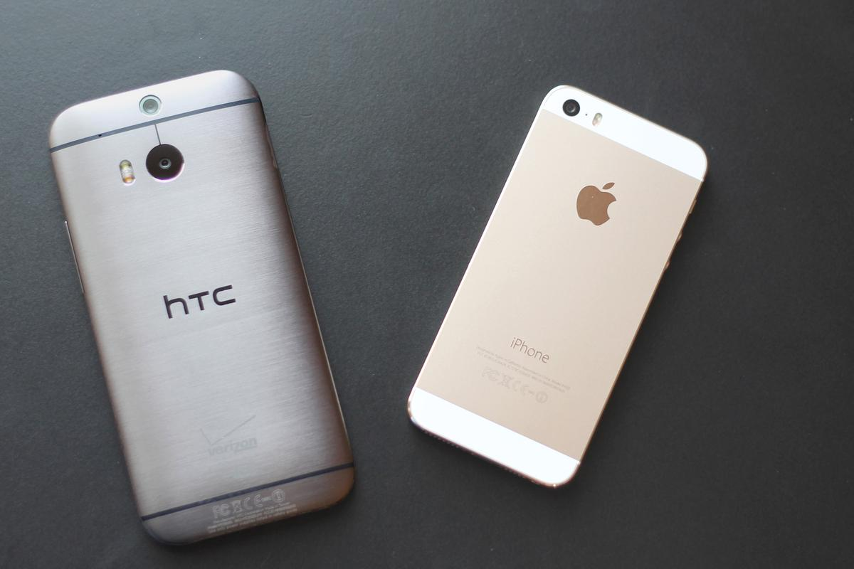 Gizmag goes hands-on to compare the HTC One (M8) and iPhone 5s