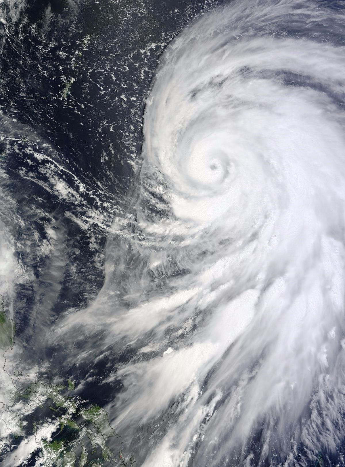 Typhoon Bolaven was one of the storms observed by the Fermi Gamma-ray Space Telescope