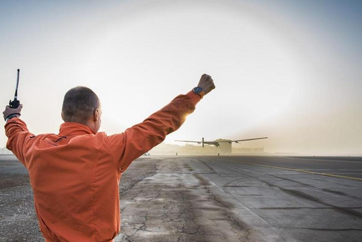 Take-off from Abu Dhabi (Photo: Solar Impulse)