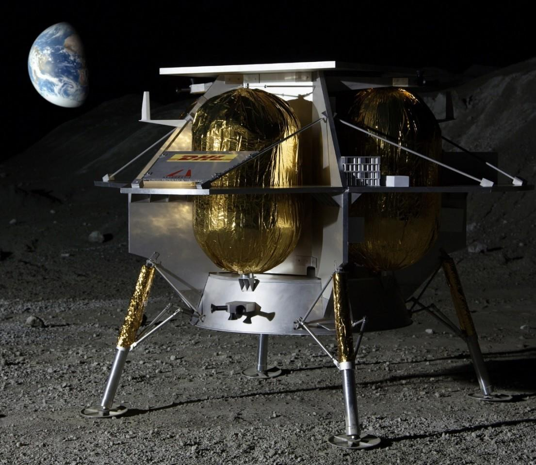 Artist's concept of the Peregrine lander