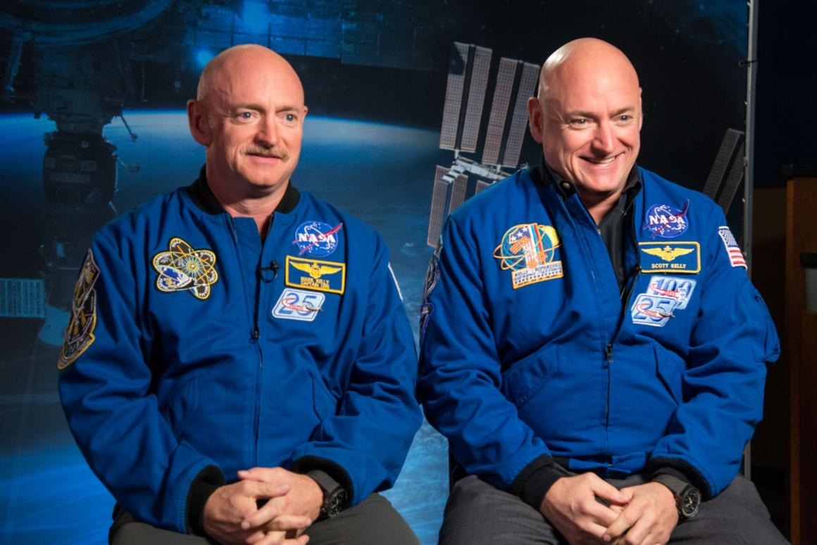 For NASA's comprehensive study on space travel's effects on human health,  astronaut Scott Kelly (right) spent almost a year on the ISS, while his twin brother Mark Kelly (left) stayed on Earth