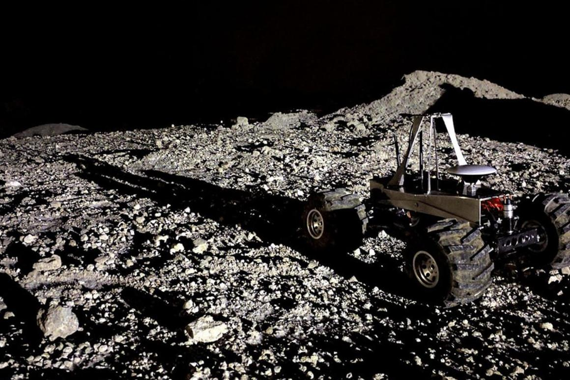 The rover, called MoonRanger, will be about the size of a suitcase and weigh about 24 pounds on Earth