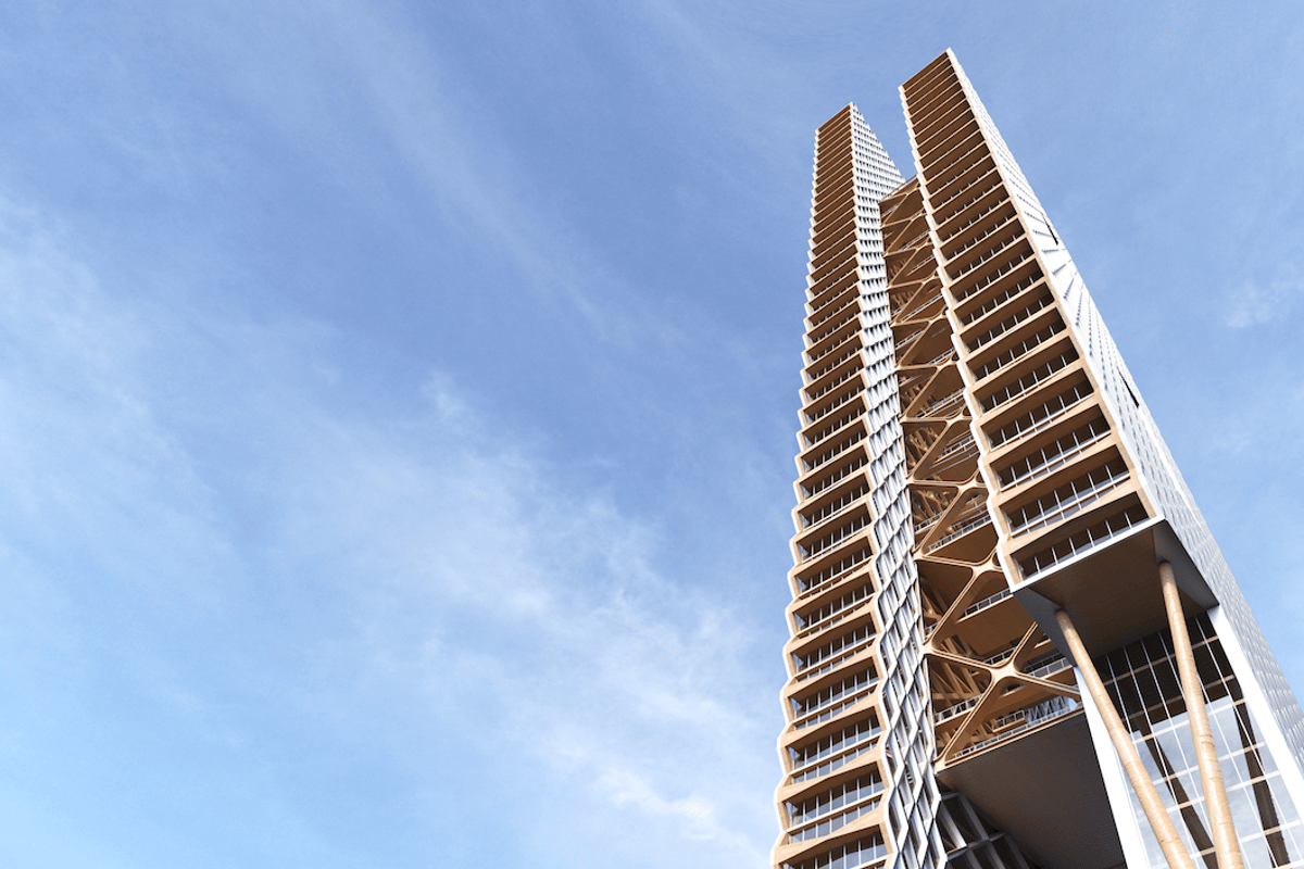 It remains to be seen whether or not the River Beech Towergoes ahead,but it's no mere blue-sky rendering concept
