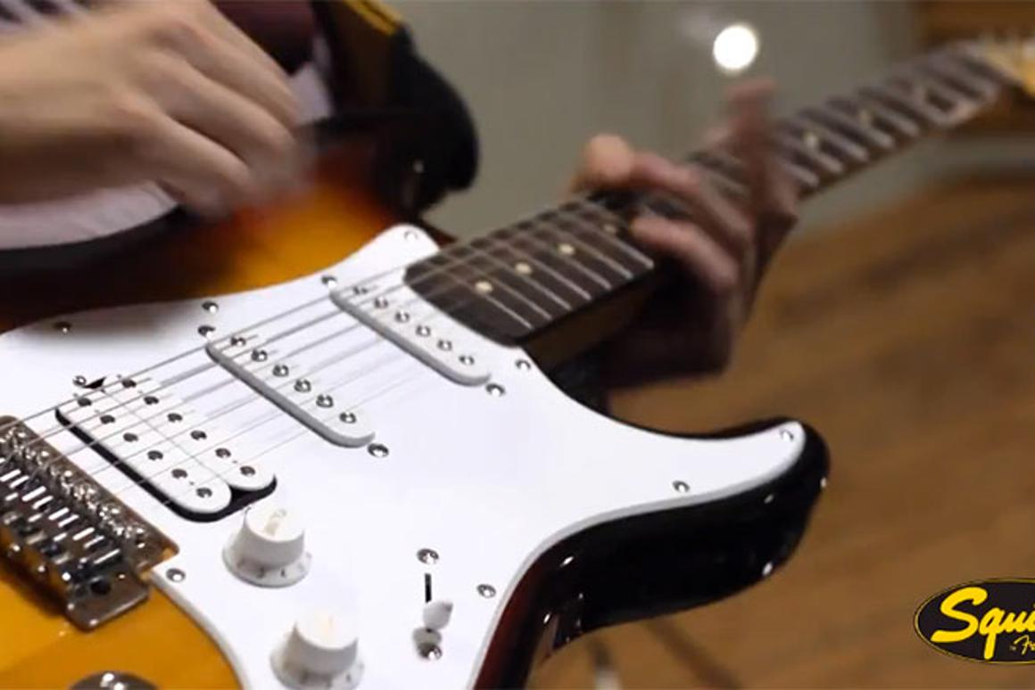 The USB-equipped Squier Stratocaster