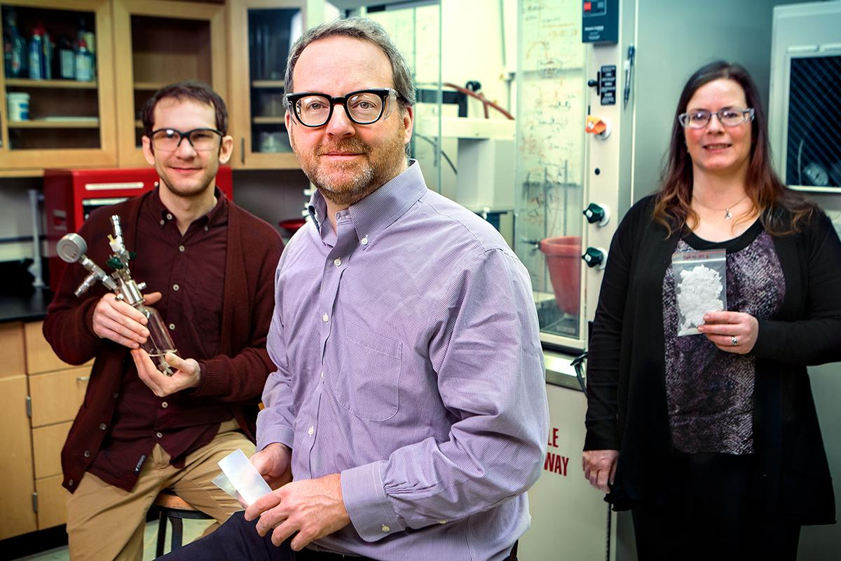 (L-R) Researchers James Eagan, Geoffrey Coates and Anne LaPointe