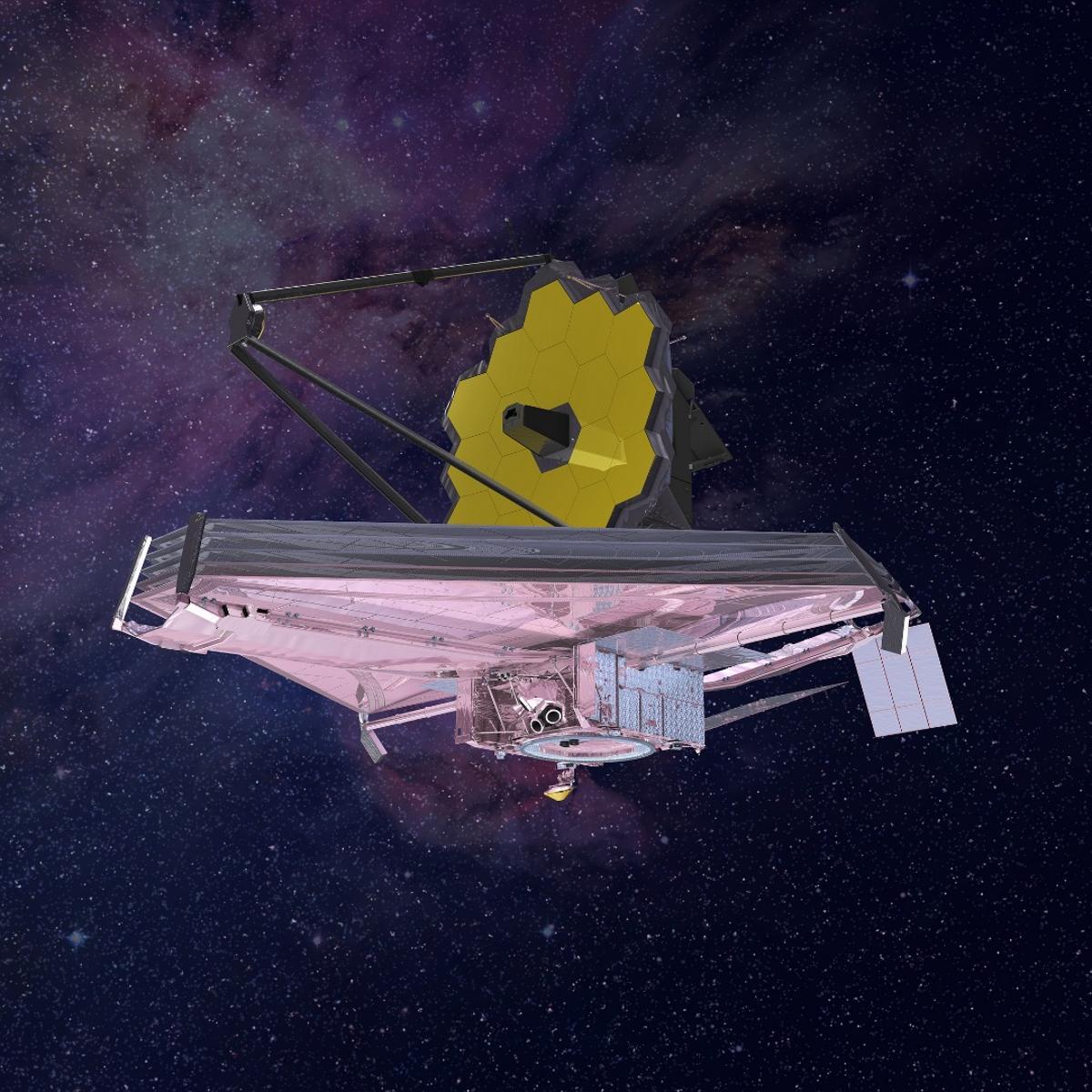 Artist's impression of the James Webb Space Telescope in orbit