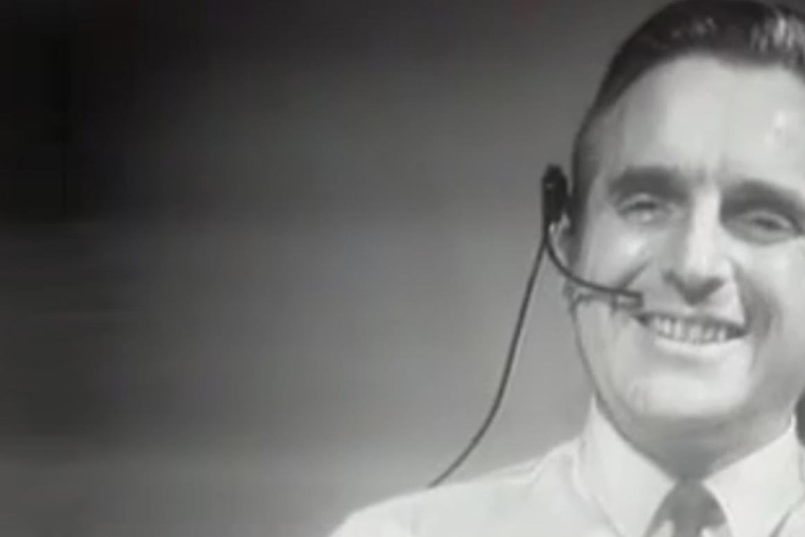 Douglass Engelbart gives his revolutionary presentation in 1968 that saw the first public demonstration of the mouse (Image: SRI International)