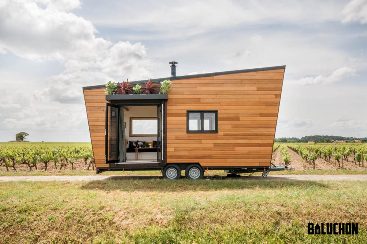 Baluchon recently completed the Intrépide as a bespoke tiny home for a couple and their dog