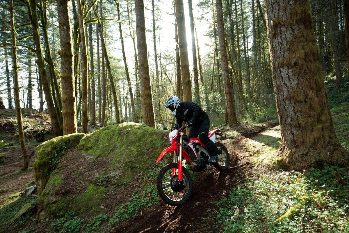 The 2019 Honda CRF450L links up the trails