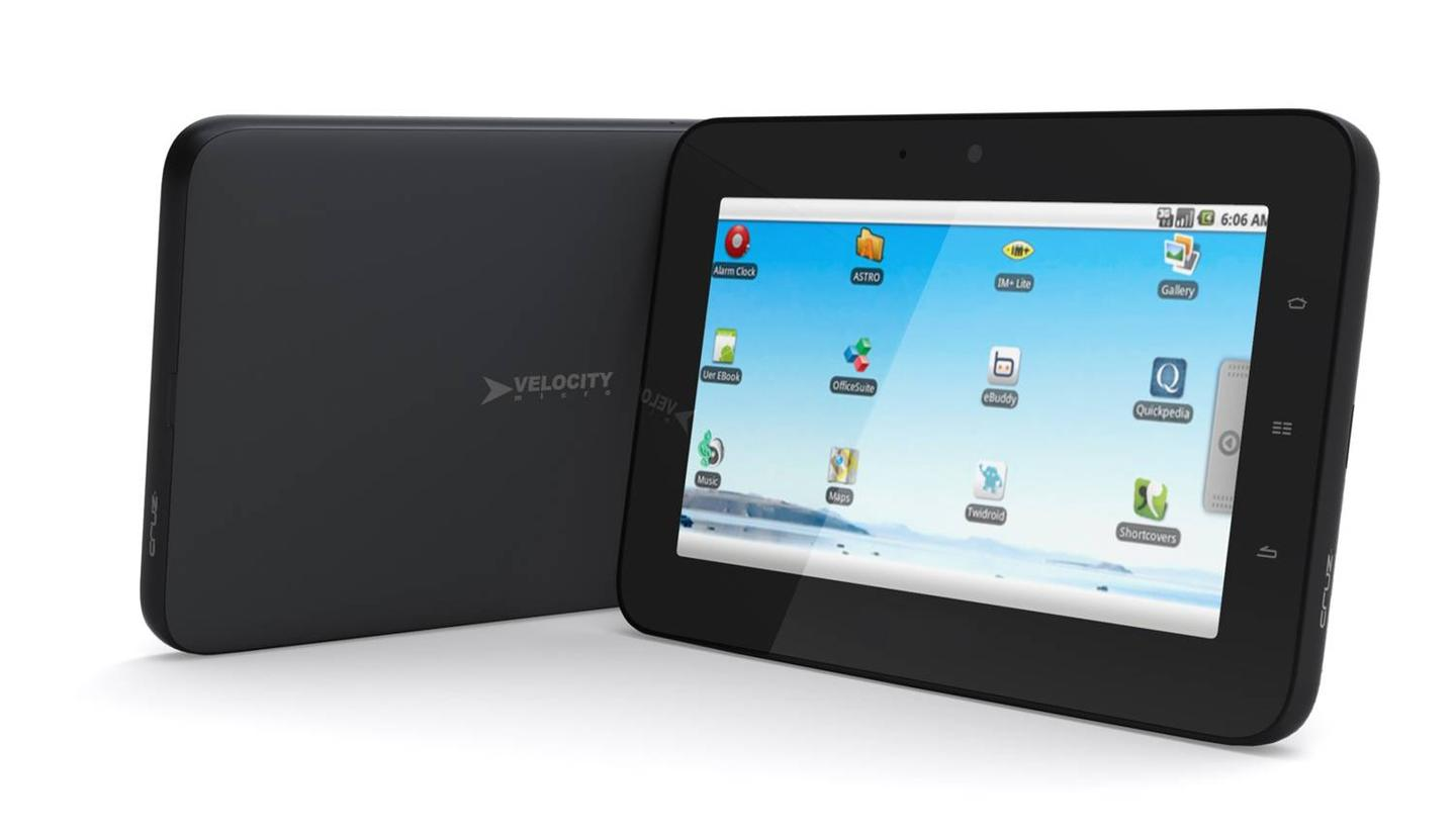 The Cruz tablet has a screen resolution of 800 x 480 and benefits from a 16:9 aspect, capacitive touchscreen display