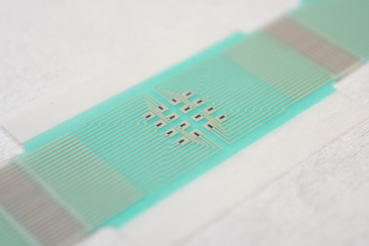 The patch incorporates an array of miniature sensors
