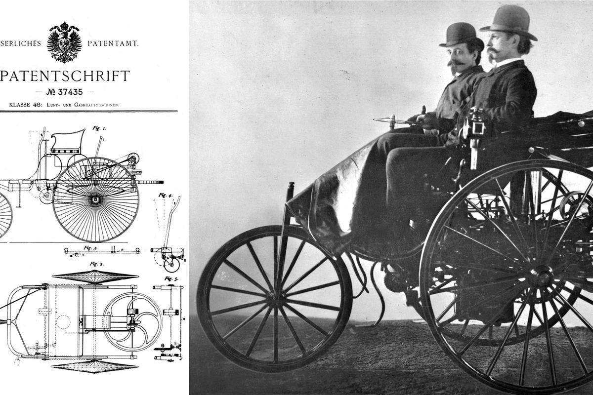 Hero image - German Patent No. 37435 was applied for by Karl Benz on January 29, 1886