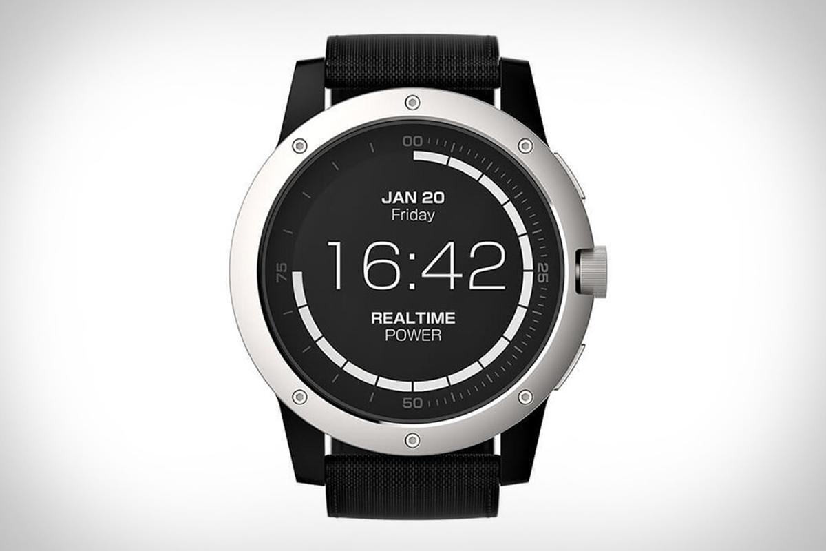 The thermoelectrically-powered Matrix PowerWatch runs off body heat