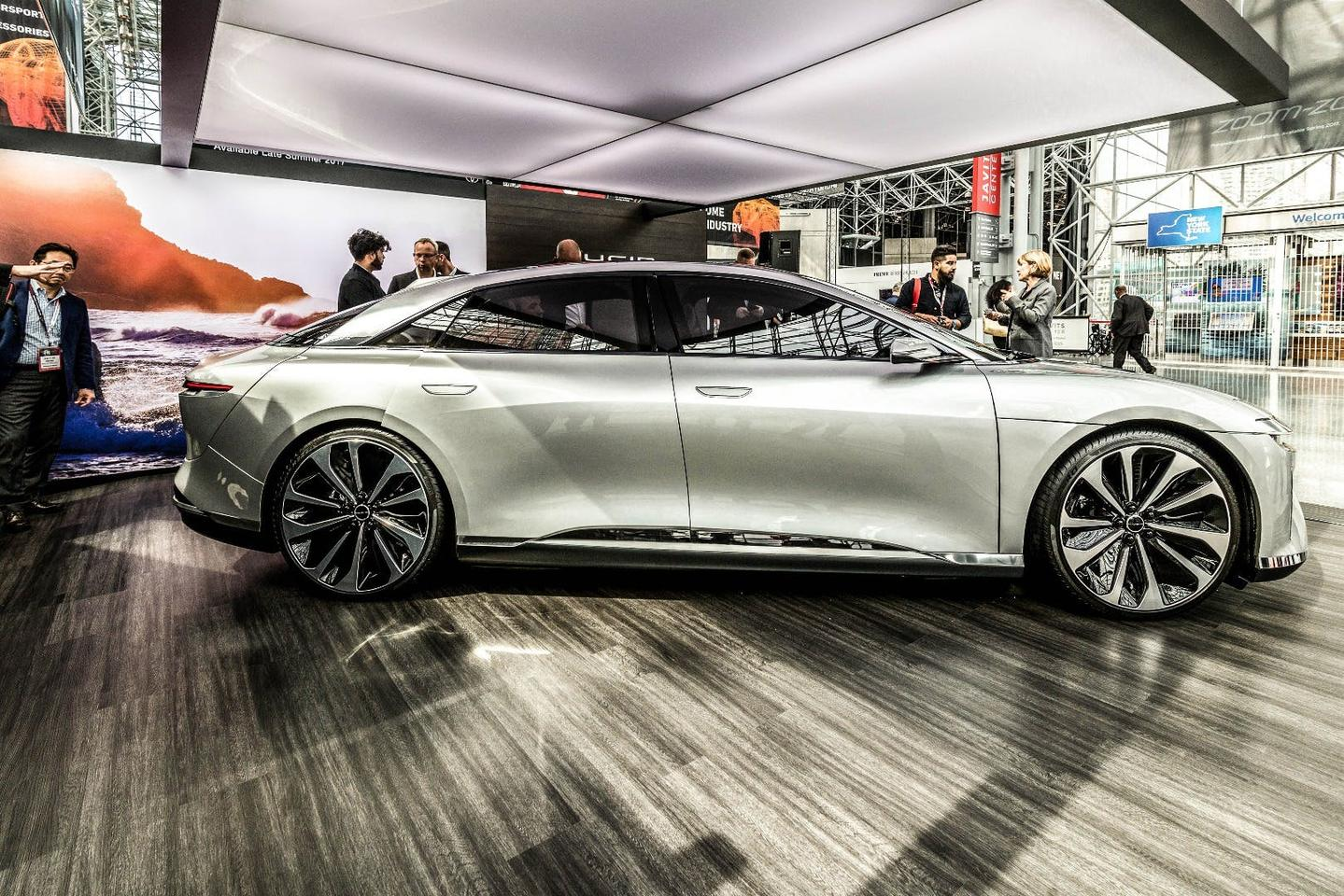 The Lucid Air on show at the New YorkAuto Show