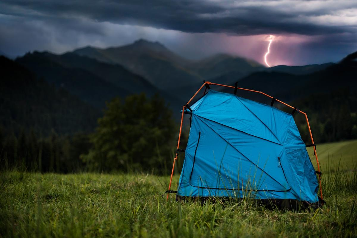 Industrial Design student Kama Jania has created a working prototype of a lightning-proof tent
