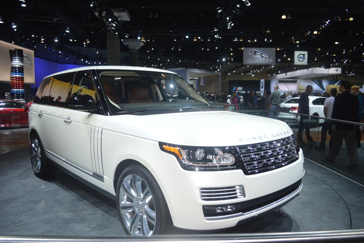 The Range Rover LWB Autobiography Black Edition was shown at a private unveiling before its public debut