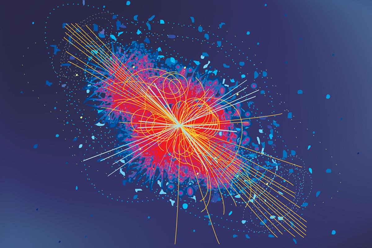 High-energy particle collision similar to those which may be giving us a glimpse of a new light boson outside the Standard Model (Image: Shutterstock)