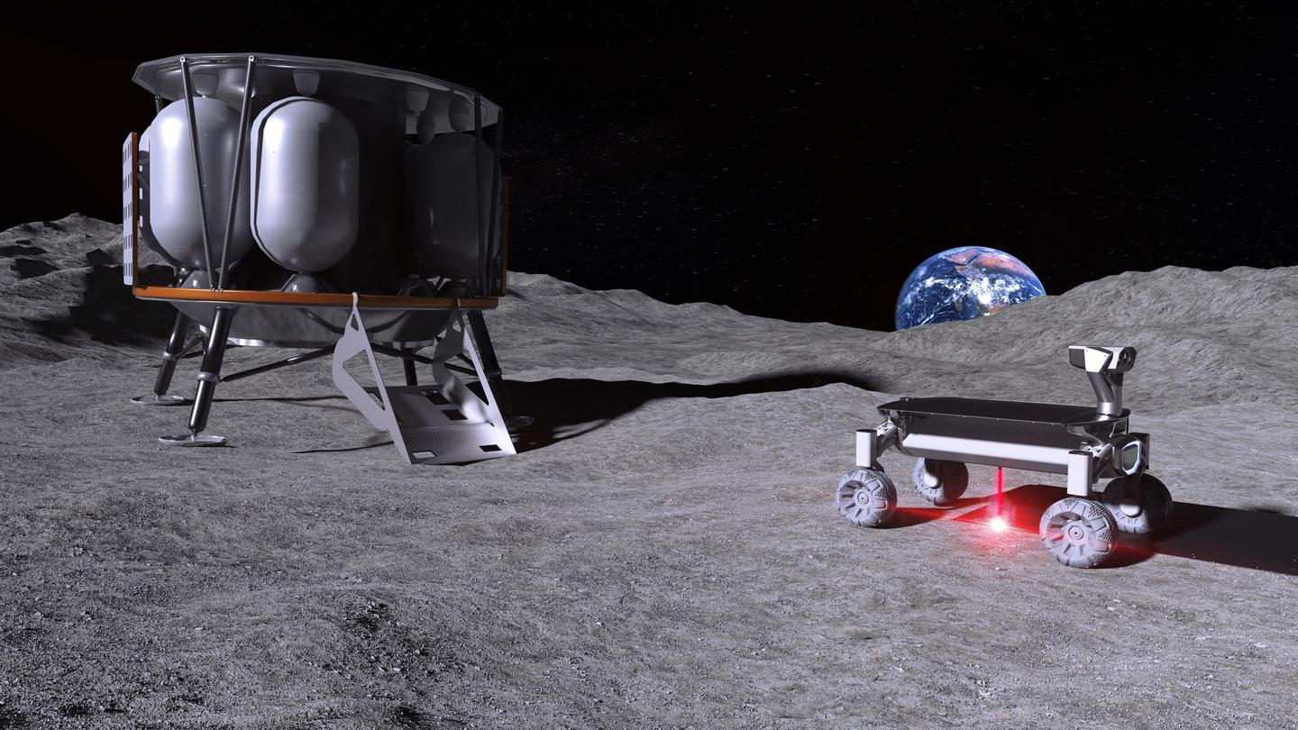 Artist's concept of Moonrise in operation on the lunar surface