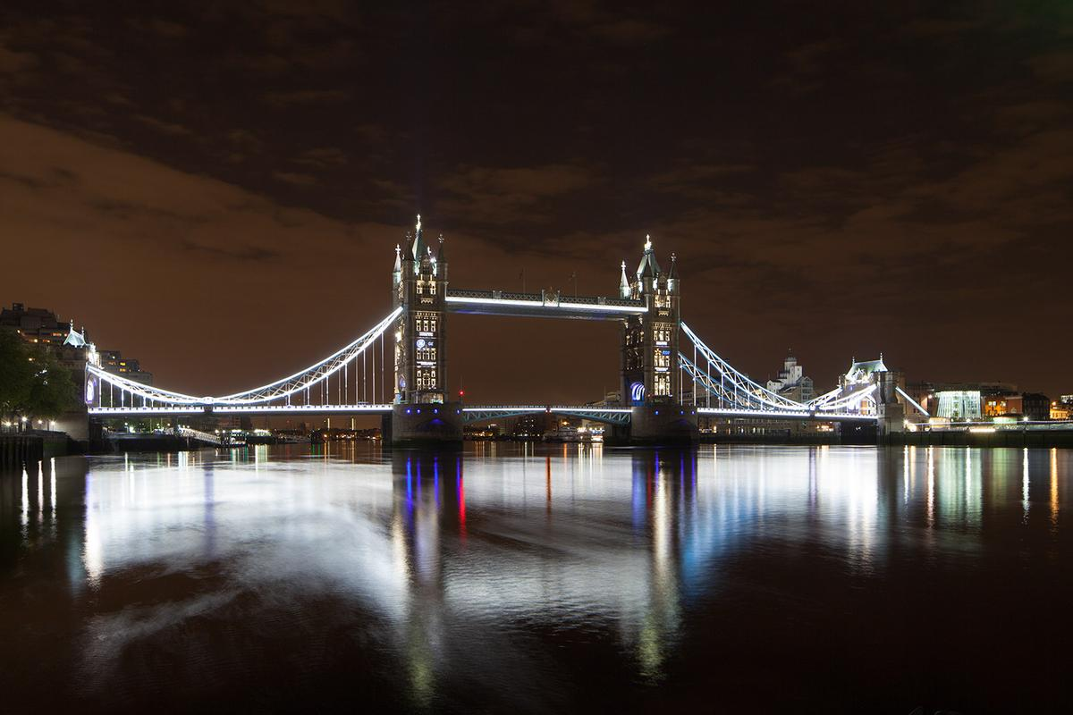 The Tower Bridge lighting system took designers and electricians six months to install (Credit: Simon Kennedy)